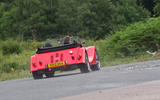 Morgan Plus 8 road test rewind - cornering rear