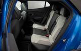 Peugeot e-2008 reveal studio - rear seats