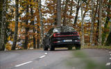 2020 Polestar 2 prototype drive - on the road cornering rear