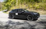 83 Porsche Cayene Turbo Coupe prototype 2022 on road side