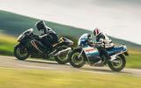 83 Suzuki at 100 Goodwin bike twin track side
