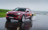 2020 Aston Martin DBX camouflaged prototype ride - front