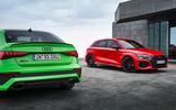 84 Audi RS3 2021 official reveal pair static rear