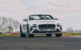 84 Bentley Mulliner Bacalar prototype drive 2021 cornering front