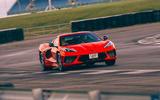 Corvette C8 vs Porsche 911 UK - Corvette track front