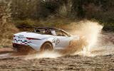 Jaguar F-Type rally car 2019 driven puddle