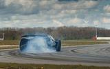 84 Lotus Evija 2021 track drive smoke rear