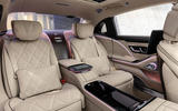2021 Mercedes-Maybach S-Class official images - rear seats