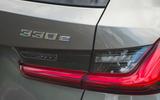 84 PHEV wagons triple test 2021 330e rear lights