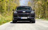 84 Porsche Cayene Turbo Coupe prototype 2022 on road nose