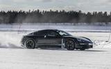 Porsche Taycan prototype ride 2019 - drift side