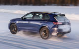 Volkswagen Touareg R 2020 official reveal images - driving rear