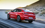 BMW X4M official press - on the road rear