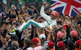 70 years of Formula One - Hamilton winning