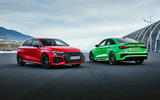 85 Audi RS3 2021 official reveal pair static front