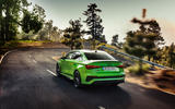 85 Audi RS3 2021 official reveal saloon road rear
