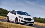 BMW 1 Series 128ti official reveal - cornering front