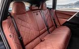 85 BMW iX prototype ride 2021 rear seats