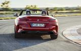 2019 BMW Z4 official reveal Pebble Beach - track rear