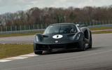 85 Lotus Evija 2021 track drive cornering front