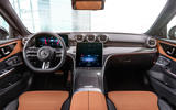 85 Mercedes Benz C Class 2021 official images dashboard brown