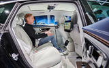 85 Mercedes EQS official reveal images GK rear seats