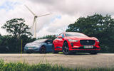 85 New VW ID3 vs used Jag I Pace static