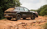 Porsche Macan prototype 2018 rocks rear