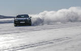 Porsche Taycan prototype ride 2019 - drift front