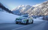 85 Skoda Fabia 2021 prototype drive on road snow