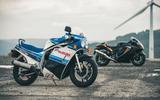 85 Suzuki at 100 Goodwin bike pair static