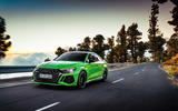 86 Audi RS3 2021 official reveal saloon road front