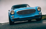 Cyan Volvo P1800 drive - on the road nose