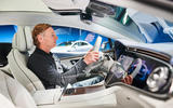 86 Mercedes EQS official reveal images GK drivers seats