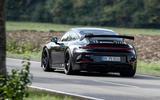 Porsche 911 GT3 2021 passenger ride - on the road rear