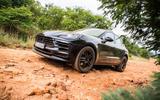 Porsche Macan prototype 2018 rocks front