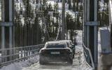 Porsche Taycan prototype ride 2019 - bridge convoy rear