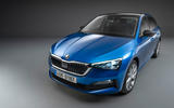 Skoda Scala 2019 official reveal - studio front angle