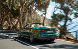 2021 BMW 4 Series Convertible official images - cornering rear