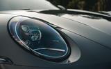 Corvette C8 vs Porsche 911 UK - Porsche headlights