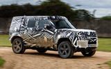 2020 Land Rover Defender prototype ride - side
