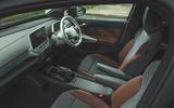 87 Mustang Mach e ID 4 Polestar 2 triple test 2021 VW interior
