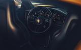 2019 Porsche 911 Carrera S track drive - steering wheel