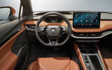 Skoda Enyaq official reveal images - studio steering wheel
