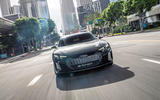 Audi E-tron GT concept 2020 prototype first drive review - on the road nose