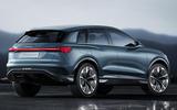 Audi Q4 E-tron electric SUV Geneva 2019 official press images - rear
