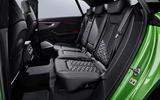 Audi RS Q8 2020 official reveal photos - rear seats