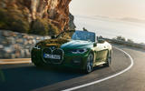 2021 BMW 4 Series Convertible official images - cornering front