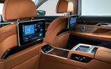 2019 BMW 7 Series official reveal - rear infotainment