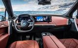 88 BMW iX prototype ride 2021 dashboard